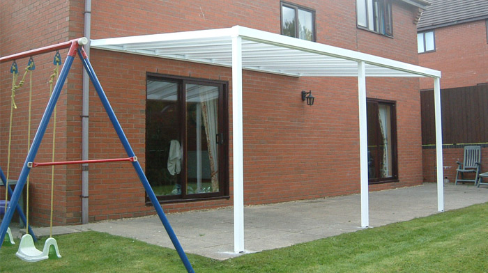 Car Port Canopy Installation In Newent Gloucestershire