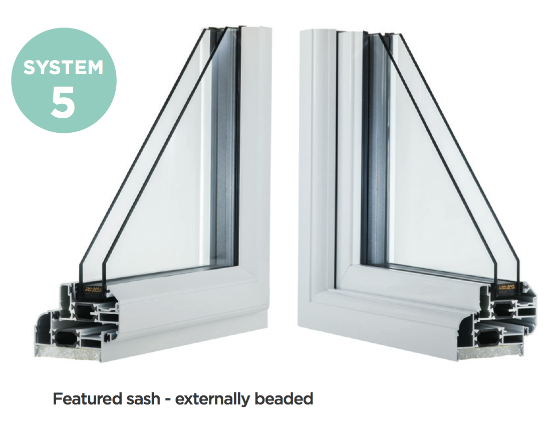 System 5 Aluminium Casement Windows Newent